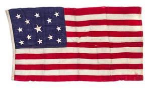 An American Thirteen Star Flag