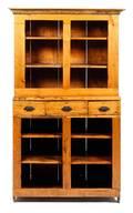 An American Pine Stepback Cupboard