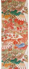 A Japanese Colored Silk Brocade Obi