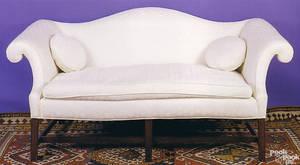 George III mahogany sofa ca 1780