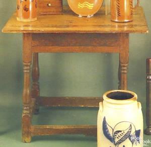Pennsylvania Queen Anne walnut tavern table ca 1750