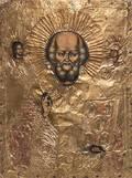 An Eastern European Gilt Foil Oklad Icon