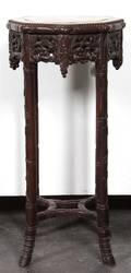 A Chinese Hardwood Jardiniere Stand