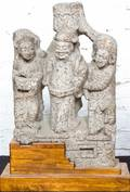 A Chinese Carved Stone Figural Group