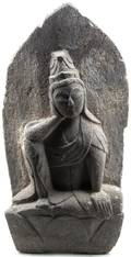 A Japanese Carved Stone Stele