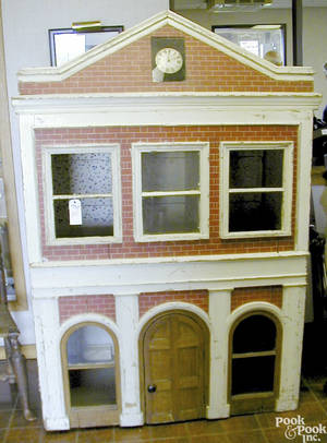 Large American carved and painted dollhouse ca 1870
