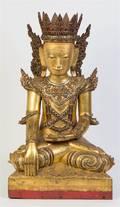 A Southeast Asian Figure of a Seated Buddha