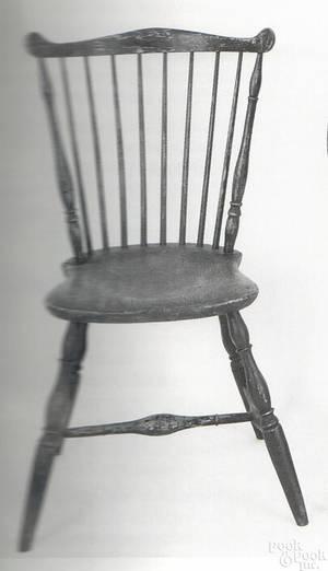 New England fan back windsor side chair ca 1780