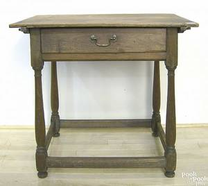 Pennsylvania walnut and poplar tavern table ca 1750