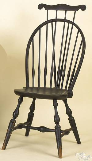 New England braceback windsor side chair ca 1790