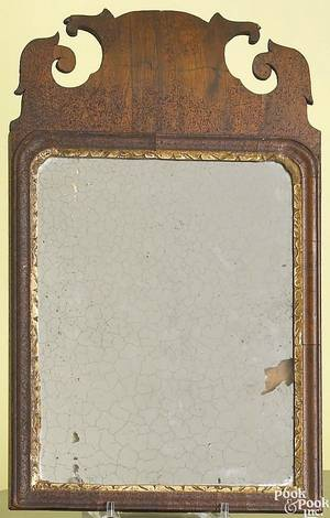 Queen Anne mahogany looking glass ca 1765