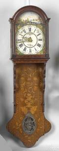 Friesland marquetry wall clock early 19th c