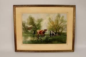 Van Vreeland Goauche Cow Painting