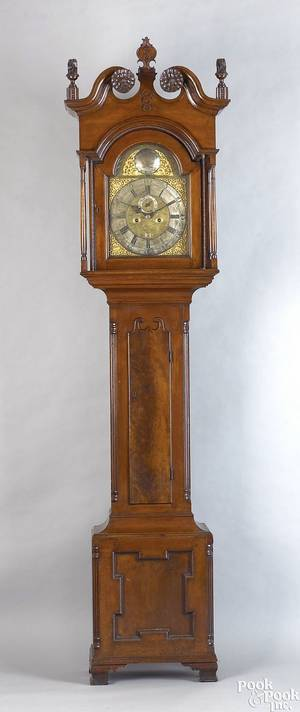 Strawbridge family Philadelphia Chippendale walnut tall case clock ca 1775