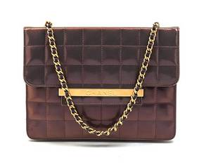 A Chanel Iridescent Purple Quilted Flap Bag