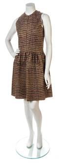 A Junya Watanabe Brown Harris Tweed Dress