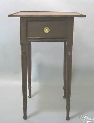Pennsylvania Sheraton cherry stand ca 1820