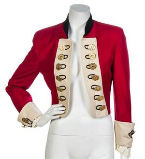 A Moschino Cheap and Chic Red Cropped Jacket