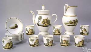 Assembled Pairs porcelain tea service 19th c