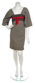 A Rudi Gernreich Black and White Wool Check Kabuki Dress