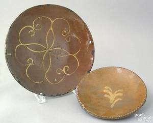 Pennsylvania redware plate 19th c
