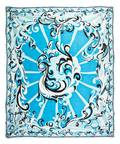 An Emilio Pucci Blue Print Scarf