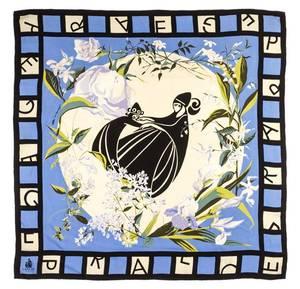 A Lanvin Silk Print Scarf