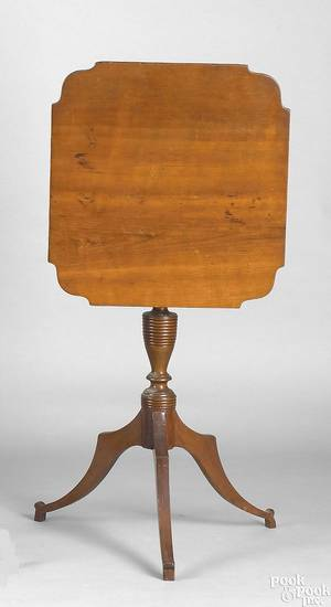 New England Federal cherry candlestand ca 1825