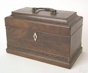 George III mahogany tea caddy ca 1790
