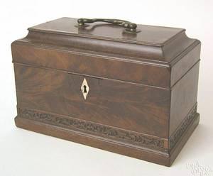 George III mahogany tea caddy ca 1790