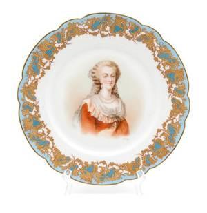 A Sevres Porcelain Plate
