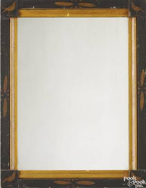 Pennsylvania carved and painted frame with mirror 19th c