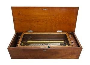 A Continental Marquetry Music Box