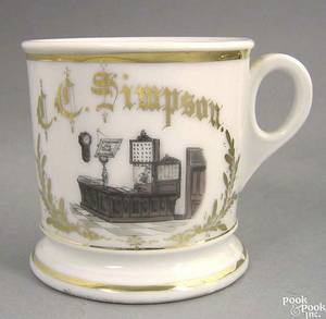 Occupational shaving mug ca 1900