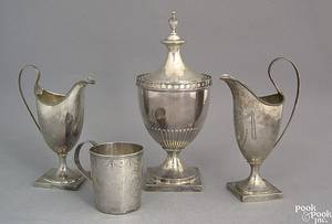 Philadelphia silver covered sugar ca 1805