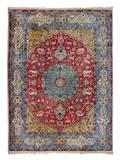A Kirman Pictorial Wool Carpet
