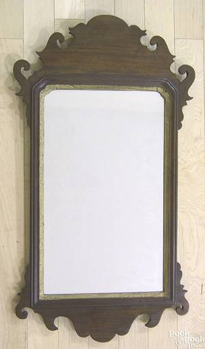Chippendale mahogany looking glass ca 1790