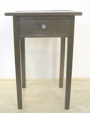 Late Chippendale cherry and oak tray top stand ca 1795