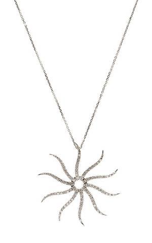 An 18 Karat White Gold and Diamond Pendant