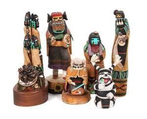 A Group of Contemporary Native Made Kachinas