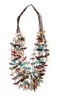 A Zuni Six Strand Fetish Necklace