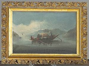 Pair of China Trade oil on canvas ship portraits early 19th c