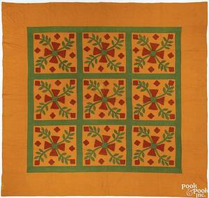 Applique quilt ca 1900