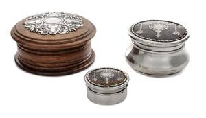 Two English Silver Mounted Boxes