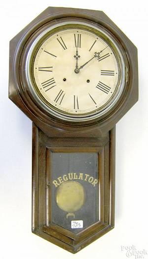 Victorian mahogany Regulator clock