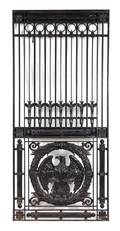 A Pair of Enameled Cast Iron Gates or Elevator Grilles