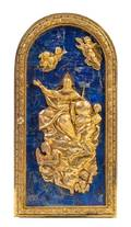 A Gilt Bronze and Lapis Lazuli Mounted Tabernacle Door