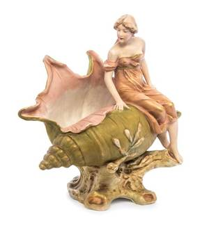 A Royal Dux Porcelain Figural Vessel