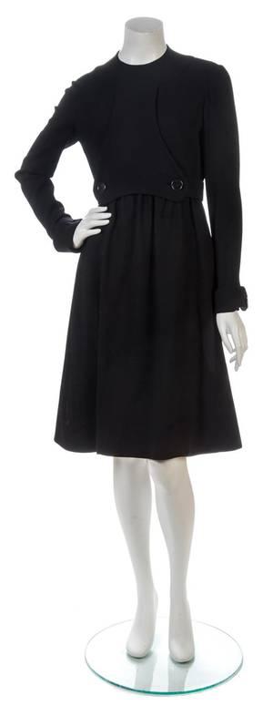 A Geoffrey Beene Little Black Wool Dress