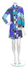 An Emilio Pucci Multicolor Silk Dress